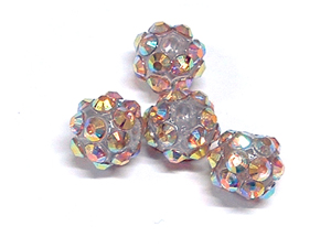 Acrylic Discoball Beads Multicoloured