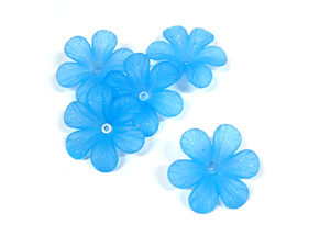Blue Acrylic Flowers