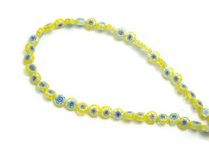 Glass Yellow Beaded String