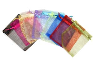 10 Organza Bags Mix Colours