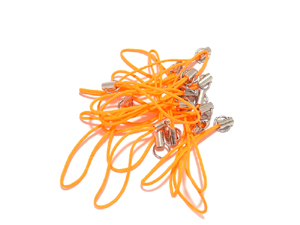 Mobile Phone Charm Hanger Orange